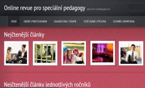 web o speciální pedagogice